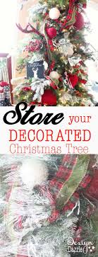Storage For Christmas Decorations Save Time And Store Your Decorated Christmas Tree Design Dazzle