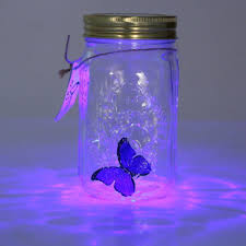 <b>Novelty Light</b> Butterfly Jar with <b>Lamp</b> Romantic Glass <b>LED Lamp</b> ...