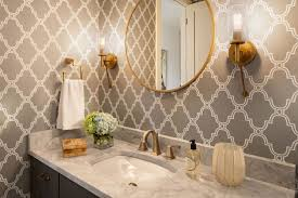 Belvedere Interior Design Belvedere Powder Room Wallpaper Design Baths Room
