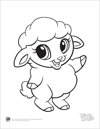 Small Picture Learning Friends Sheep baby animal coloring printable from
