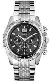 guess chronograph steel dress watch u0177g1 men s guess chronograph steel dress watch u0177g1