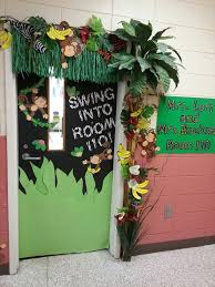classroom door decorations back to school. Perfect School Jungle Themed Back To School Door Throughout Classroom Door Decorations Back To School
