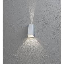 new imola led outdoor wall light in aluminium
