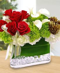 Contemporary Christmas Flower Arrangements Flower Market Long Beach  Decorating Modern Christmas Flower Centerpieces