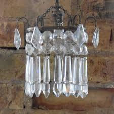 single light basket chandelier