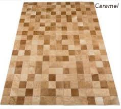 patchwork rug caramel