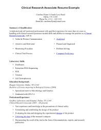 CRA Resume Sample