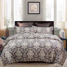 Designer Quilt Covers Softta Floral Bedding Set Damask Paisley King Size 3 Pcs Royal Style Luxury Designer Duvet Covers Brown And Gold Bed Cover 100 Pure Cotton
