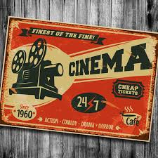 Cinema Cheape Tickets Vintage Poster Bar Kitchen Retro Kraft Paper Posters  Movie Poster Wall Sticker Art Print Classic Painting