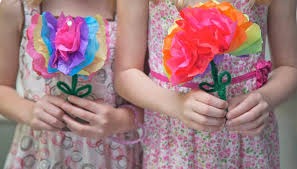 How To Make Flower Out Of Tissue Paper How To Make Paper Flowers With Kids Our Pastimes