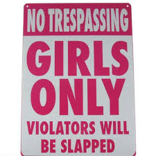 Superb Inspirational Signs For Girls Rooms | No Trespassing   Girls Only Metal Bedroom  Door Sign NEW Enlarged .