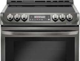 lg 6 3 cu ft self cleaning slide in electric convection range printproof black stainless steel lse4613bd best