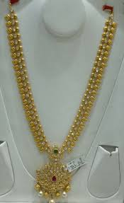 Latest Gold Haram Designs In 40 Grams Long Chain 40grams Gold Jewellery Design Gold Jewelry