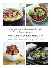 7 day menu plan for keto or atkins t by mellissa sevigny of i breathe i