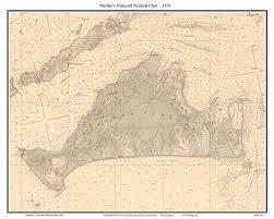 Amazon Com Marthas Vineyard 1879 Nautical Map Custom