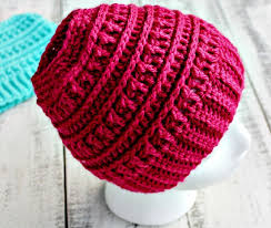 Free Crochet Pattern For Messy Bun Hat Extraordinary Crochet Katniss Messy Bun Hat Olives Okra
