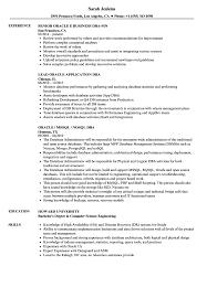 Dba Oracle Resume Samples Velvet Jobs