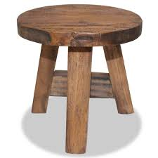 vidaXL <b>Solid Reclaimed</b> Wood <b>Stool Vintage</b>-<b>Style Chair</b> Seat ...