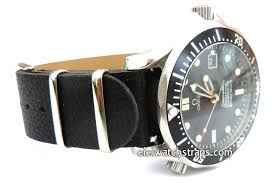 nato black leather watch strap for omega seamaster omega planet planet ocean watches
