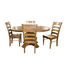 Bennett 5 Piece Round Dining Set Round Table With 4 Wood Side