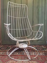 vintage homecrest wire retro metal swivel chair outdoor patio furniture eames