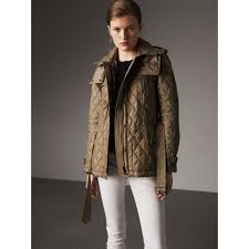 Quilted Trench Jacket with Detachable Hood in Pale Fawn - Women ... & Quilted Trench Jacket with Detachable Hood in Pale Fawn - Women | Burberry  United States - Adamdwight.com