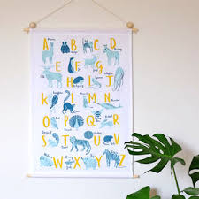 a z of animals fabric wall hanging by stephanie cole design notonthehighstreet  on hanging cloth wall art with a z of animals fabric wall hanging by stephanie cole design