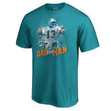 Men's Player Dolphins Illustration Number Nfl T-shirt Miami Pro Line Name Dan Marino Aqua amp; Retired