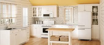 Artistic Kitchen Design With White Wooden Kitchen Island Using