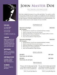 Free Resume Template Doc Docs