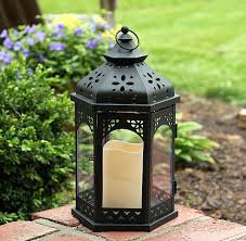 outdoor candles lanterns and lighting. outdoor battery operated flameless gazebo candle lantern 13 inch timer candles lanterns and lighting l