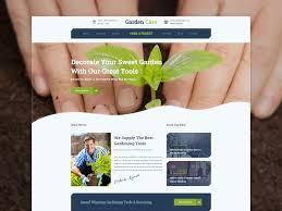 Homepage Design Garden Care Gardening Website By Masum Rana Impressive Garden Web Design Design