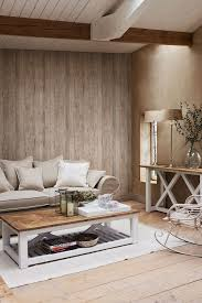 Such A Warm And Cosy Space Using Driftwood Effect Wallpaper Pattern