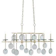 fancy 8 light rectangular chandelier 22 currey and company 9000 0060
