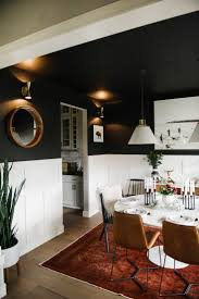 Living Room With Dining Table 17 Best Ideas About Black Dining Rooms On Pinterest Black Dining