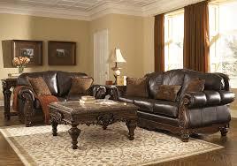 North Shore Dark Brown Genuine Leather Sofa Set | Lexington Overstock  Warehouse