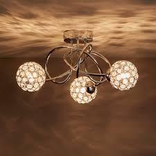 Mantus Chrome Effect 3 Lamp Ceiling Light Ceiling Lights