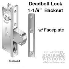 deadbolt lock 1 1 8 inch w radius faceplate front door 2 colors