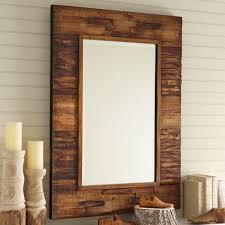 it reclaimed wood vanity mirror