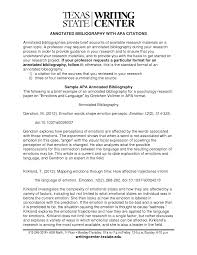 Annotated Bibliography Research Paper Mla Apa Samples Template
