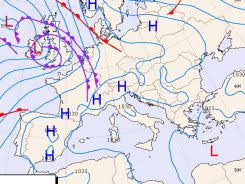 Euroweather The Weather Charts Of Italy Europe And
