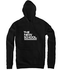 york university hoodie. new school pullover hoodie - white logo york university