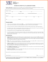 Payment Plan Agreement Resume And Cover Letter Template Doc 4