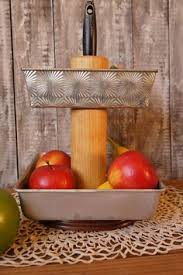 decor red kitchen fruit upcycled farmhouse decor tiered stand kitchen decor kitchen organizer stand fru