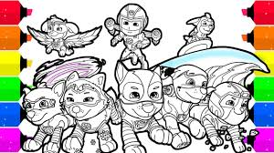 Spring coloring pages for kids from coloring.ws. Paw Patrol Mighty Pups Coloring Pages For Kids Youtube