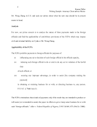 writing sample attorney client advise memo 4 kumar pallav writing sample attorney client advice memomr wang zhang in u s and seek our advice about what his next step should be in presentmatter in