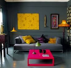 color block living room colorful