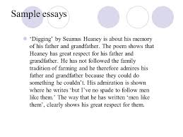 differences between a c and a d grade ppt sample essays 6 sample essays seamus heaney