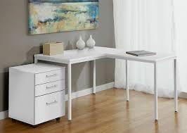 modern white l shaped corner parson s desk with mobile file photo details