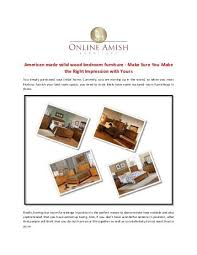 American Made Solid Wood Bedroom Furniture   Make Sure You Make The Right  Impression With Yours